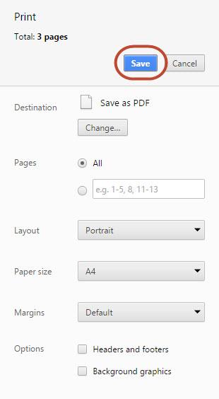 Save PDF in Chrome